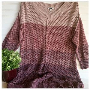 Maurices Open Weave Knit Hi-Lo Sweater